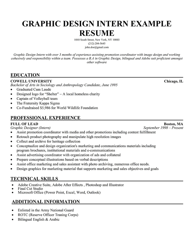 sample design resume objectives